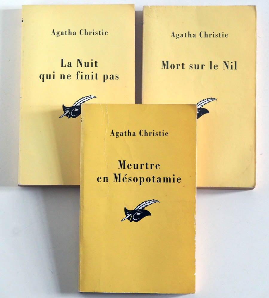 Image of Livre - Agatha CHRISTIE / Lot x3 Poche