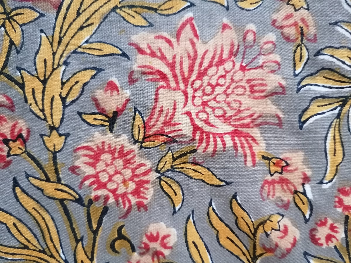 Image of Namasté fabric gros bouquets