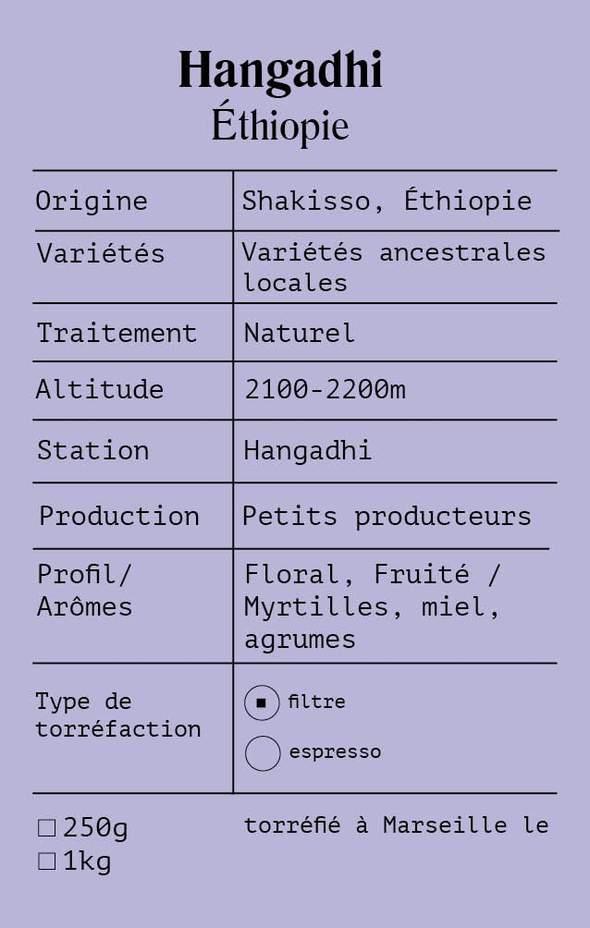 Image of Hangadhi Ethiopie de DEEP COFFEE ROASTERS