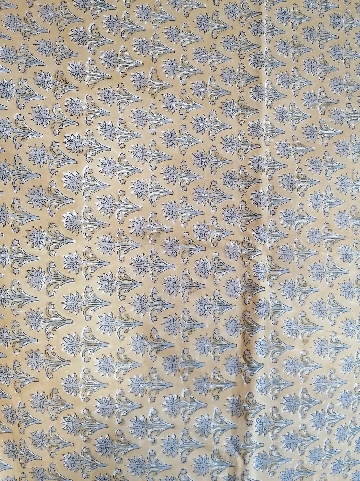 Image of Namasté fabric petites fleurs grises