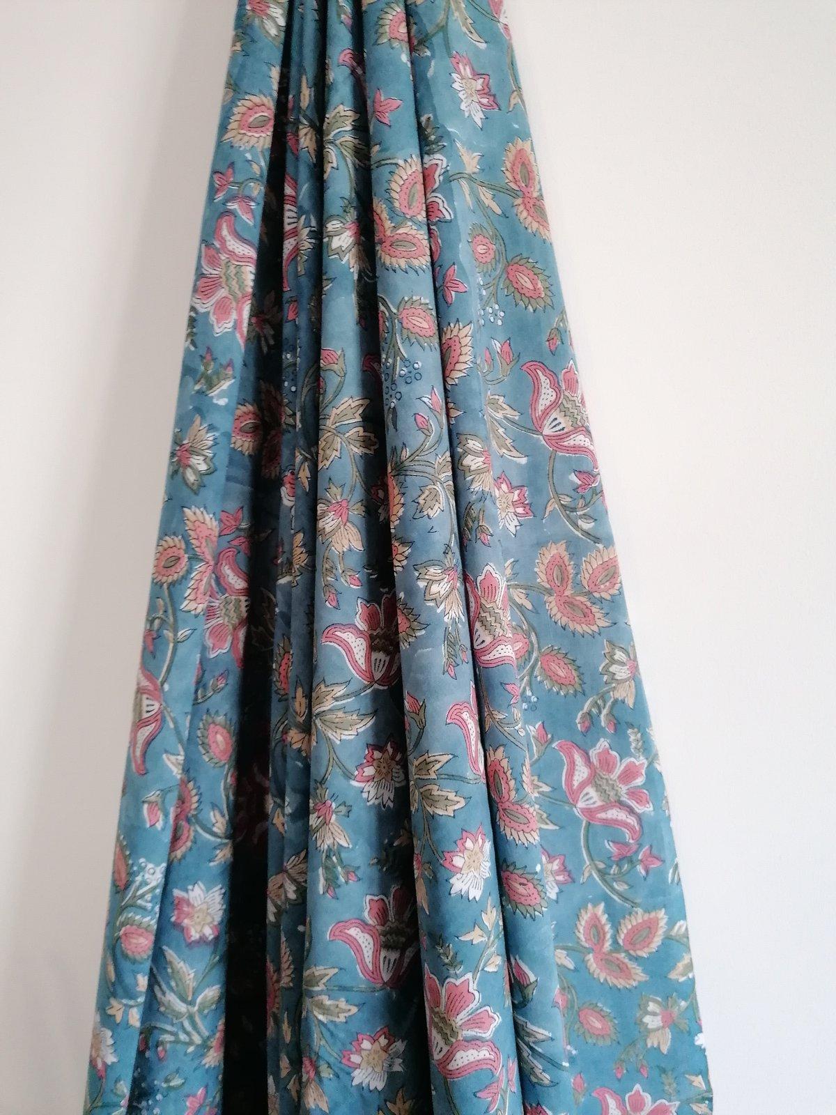 Image of Namasté fabric blue