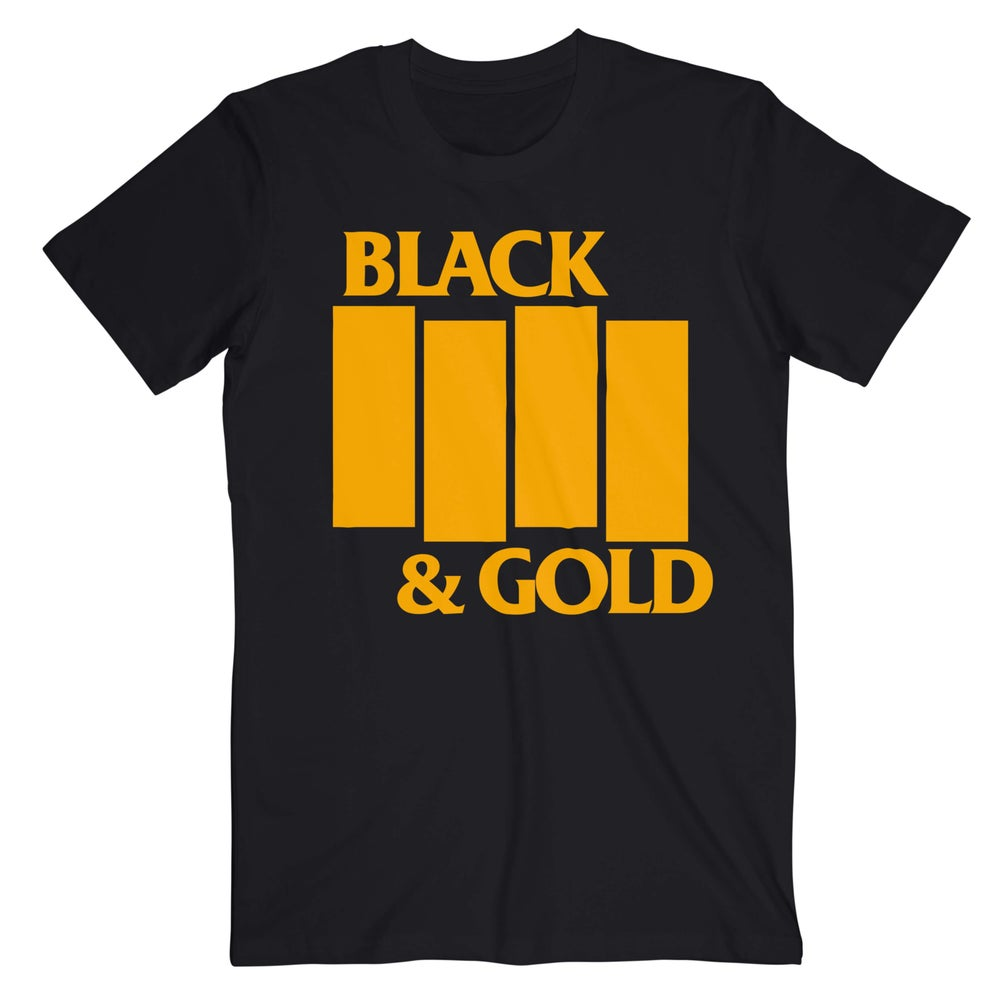 Black and Gold Flag