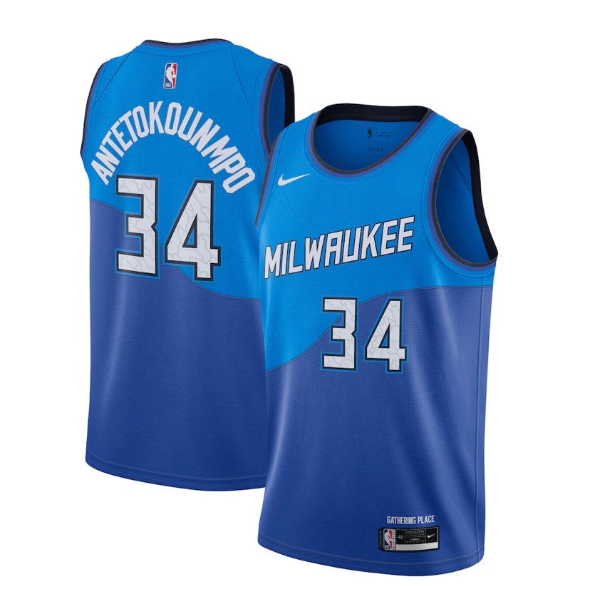 Image of Giannis bucks city edition jersey 2020/2021
