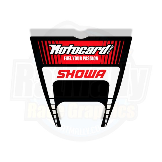 Image of Showa Motocard Undertray Graphic. KRT Style. ZX-10R