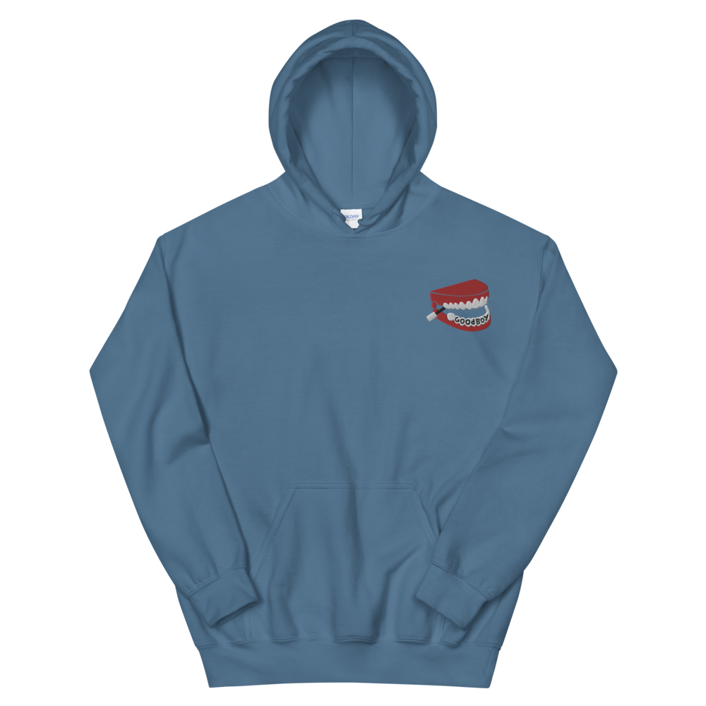 Image of GOODBOY CHATTERING TEETH EMBROIDERED HOODIE