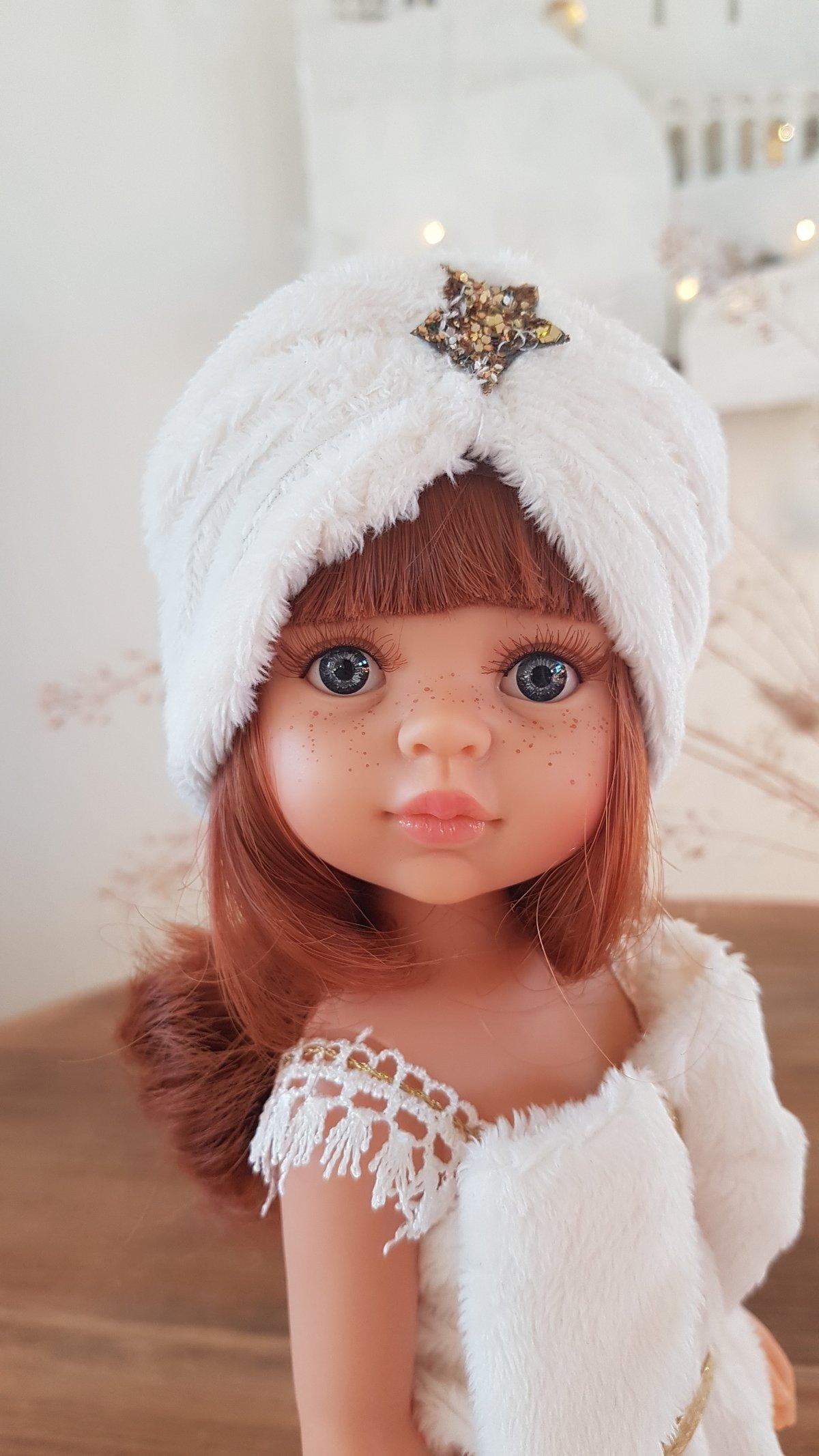 Image of POUPEE DE NOEL - MODELE UNIQUE Juliette turban