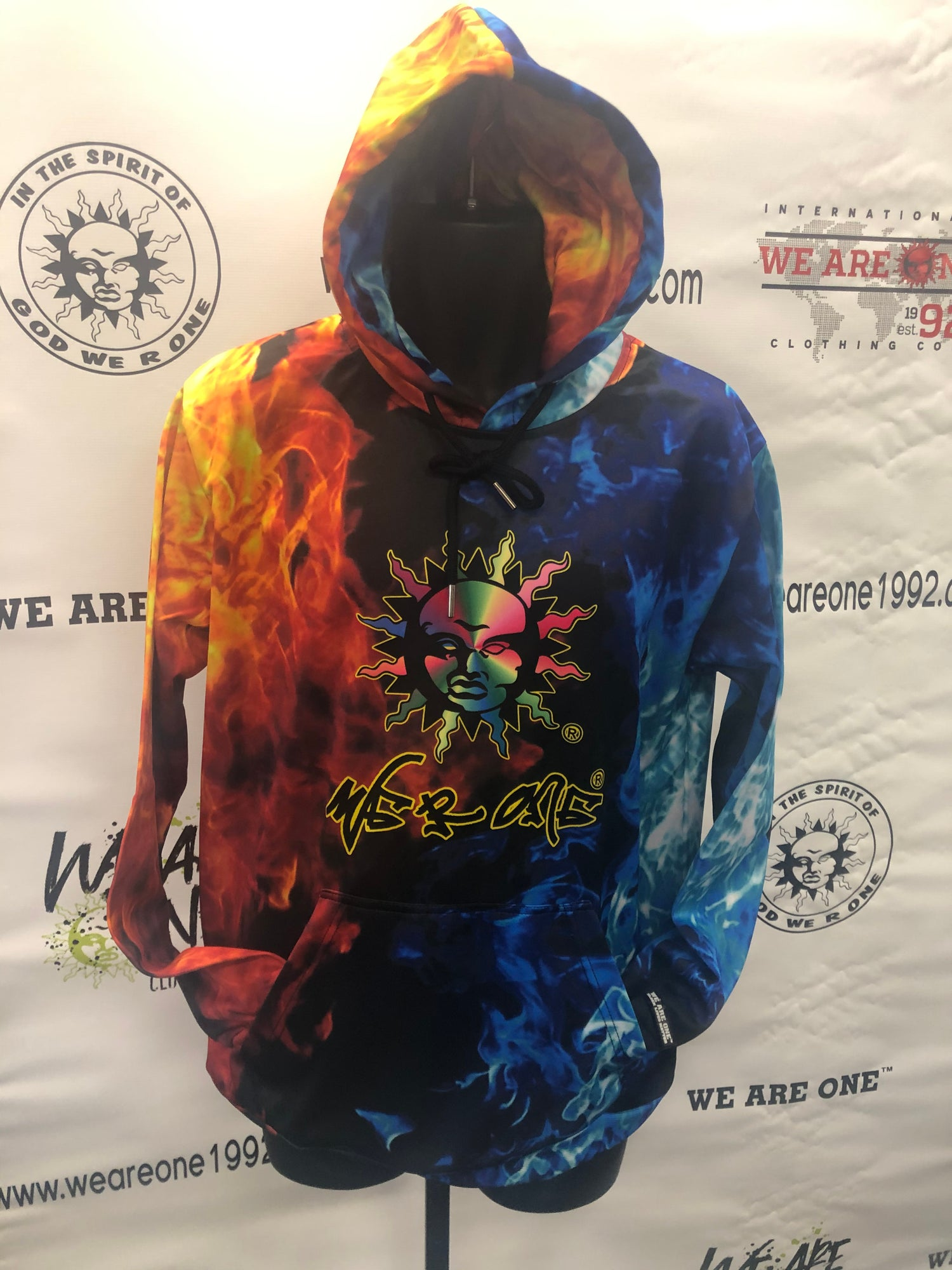 Image of FIRE AND ICE SUBLIMATION HOODY
