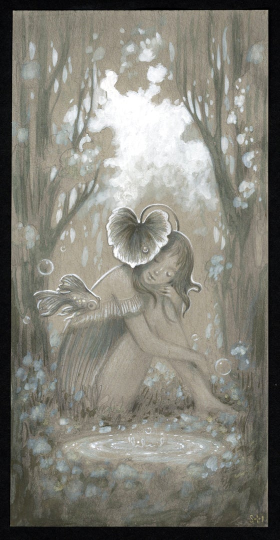 Image of Leaf of Love ~ drawing Study