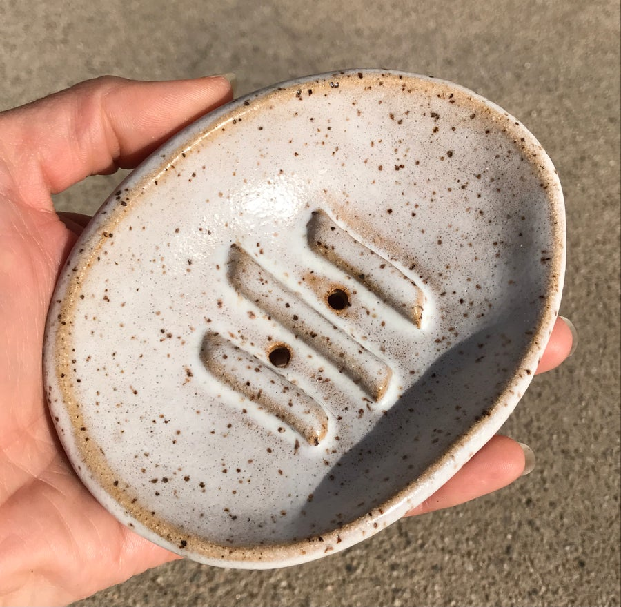 Image of Facial Bar Dish Oval White