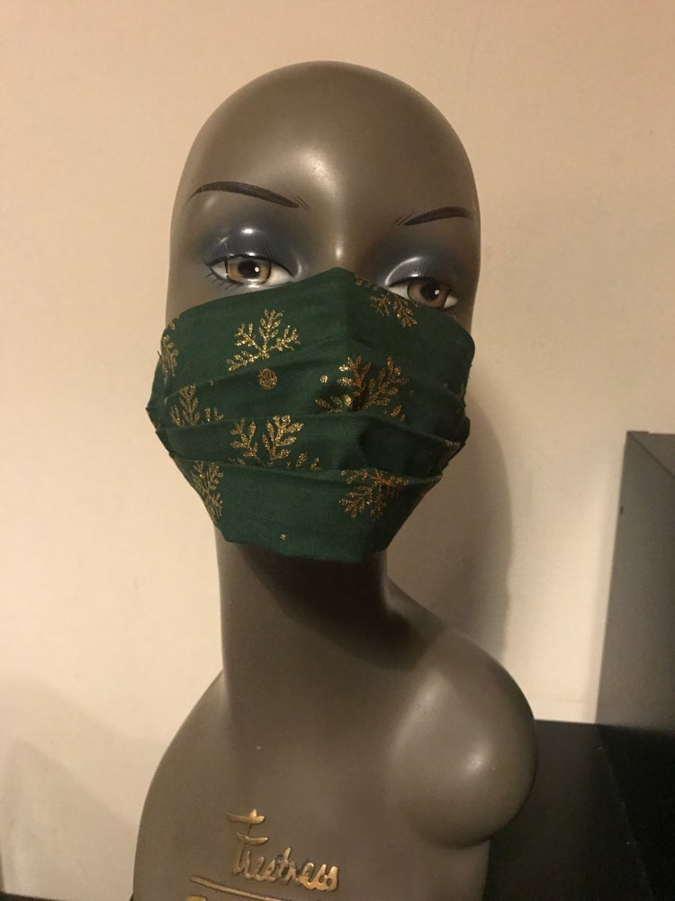 Image of Glitter snowflake face mask