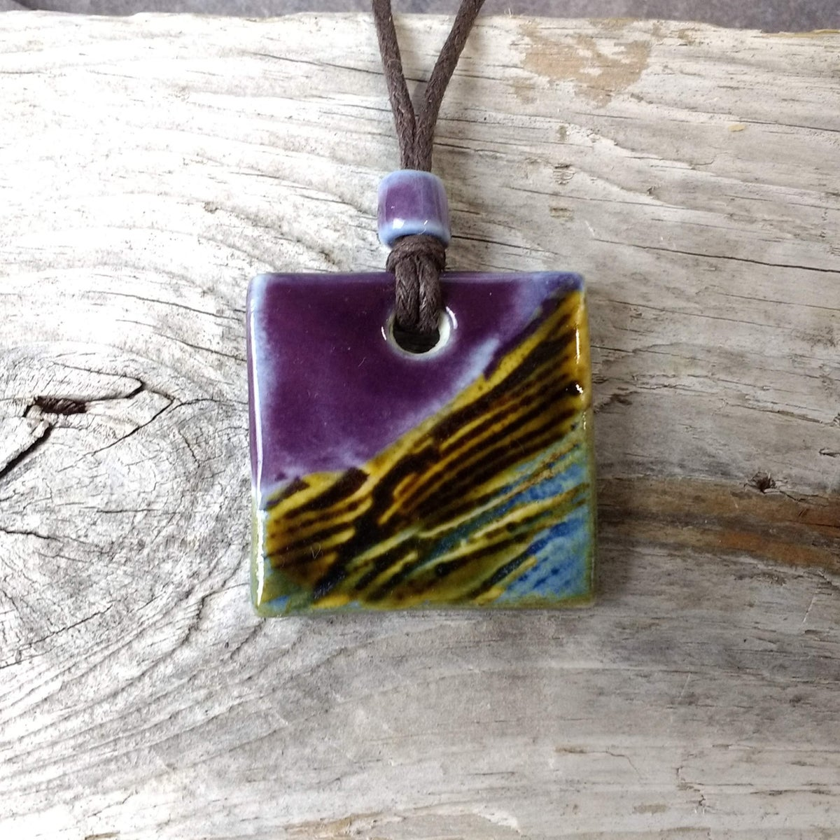 Craggy purple pendants