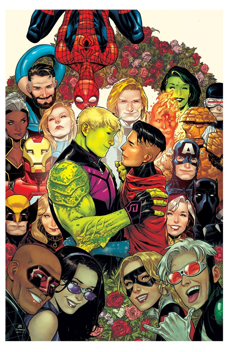Image of YOUNG AVENGERS WEDDING Print A