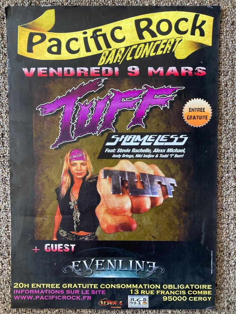 Image of Tuff Stevie Rachelle promo Poster Paris France Tour Glam Hairband Sleaze Rock