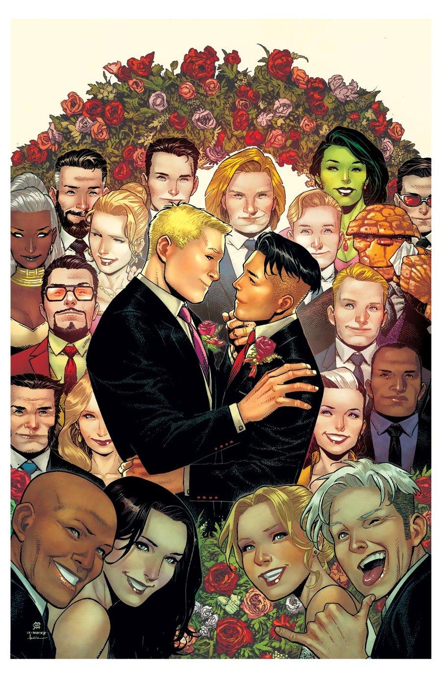 Image of YOUNG AVENGERS WEDDING Print B