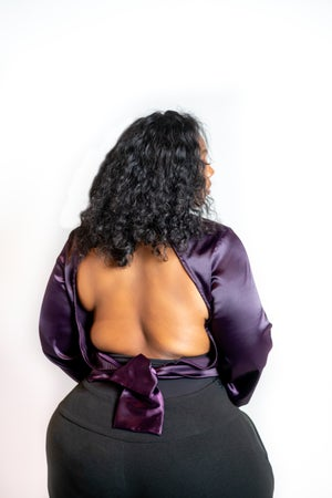 Image of SugarPlum Satin Blouse