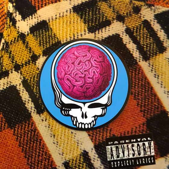 Image of Steal Yr Brain Coral Head Sticker (Miami Vice Edition)