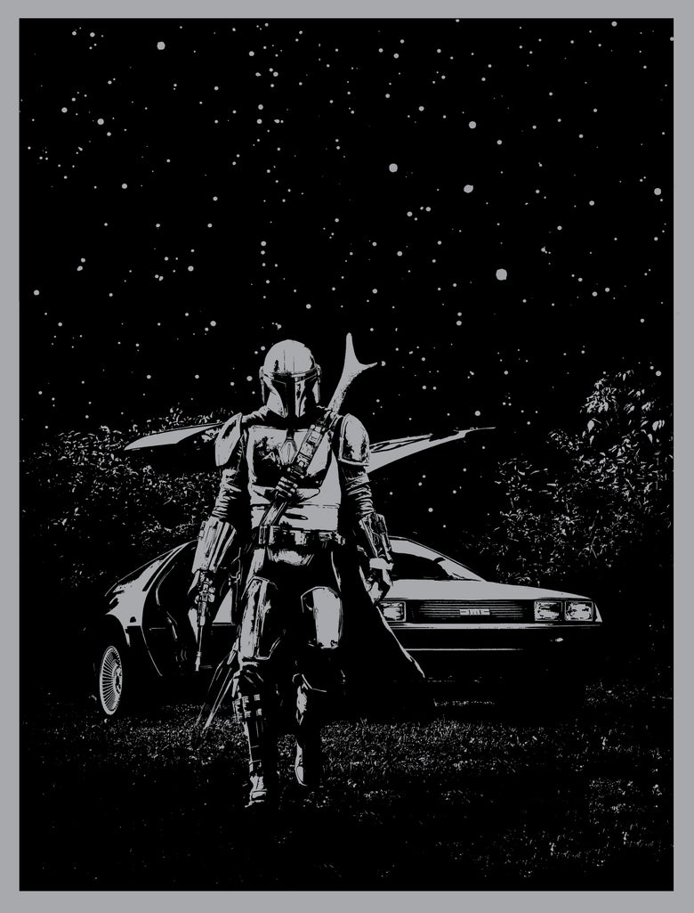 Image of Mandalorian's Delorean