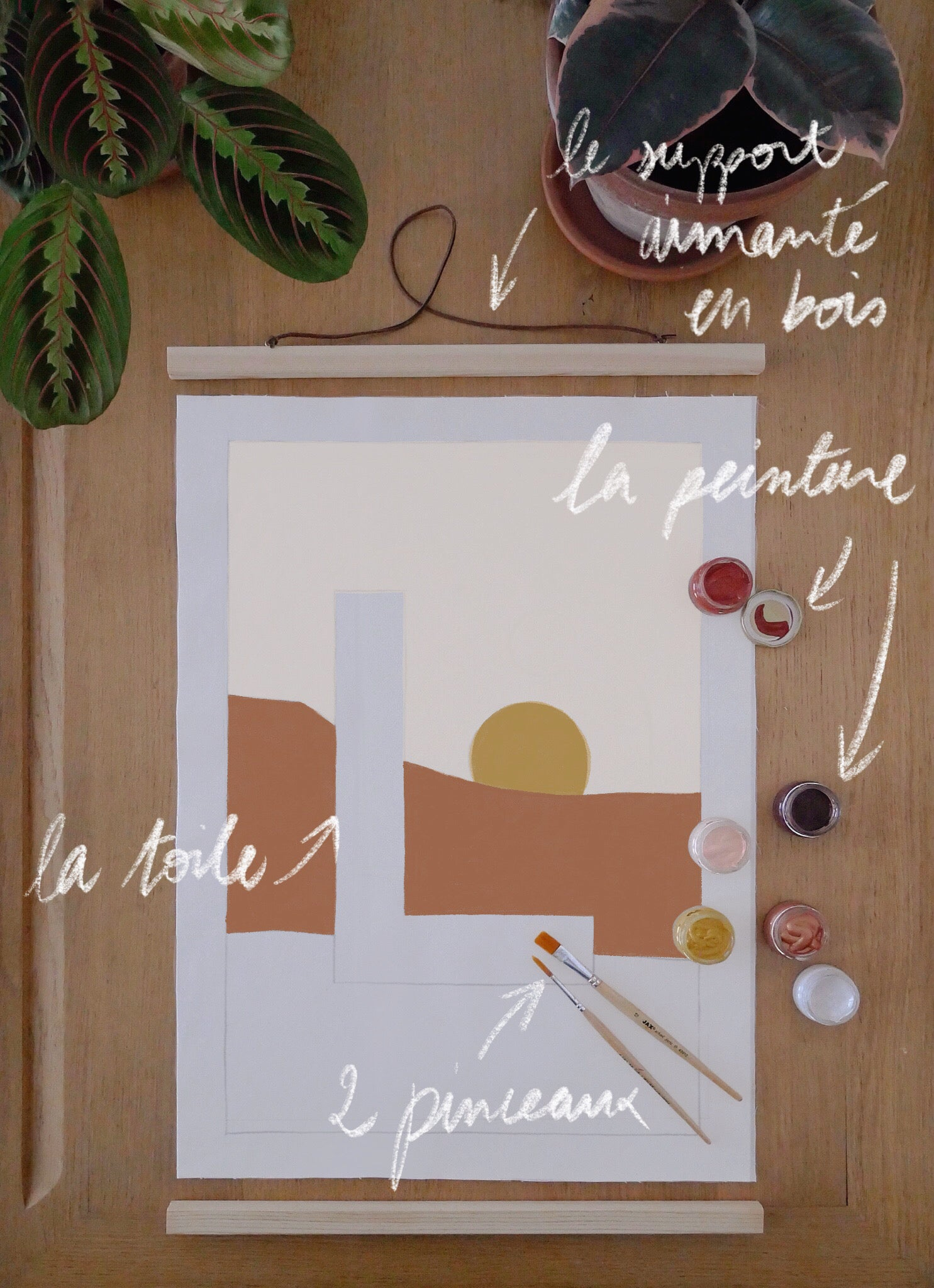 Image of Peinture INITIALE en kit - motif Desert / Custom art kit