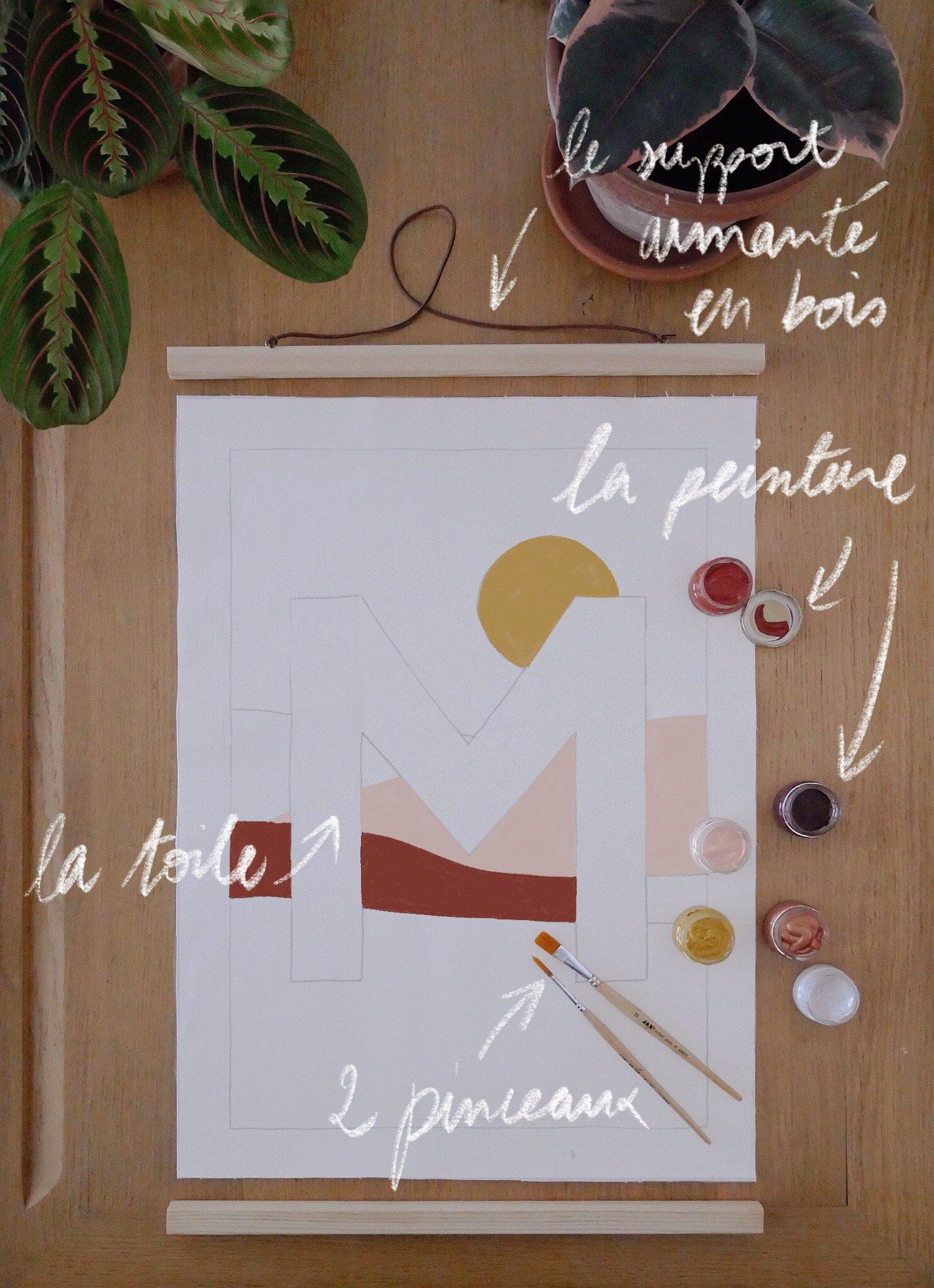 Image of Peinture INITIALE en kit - motif dunes / Custom art kit