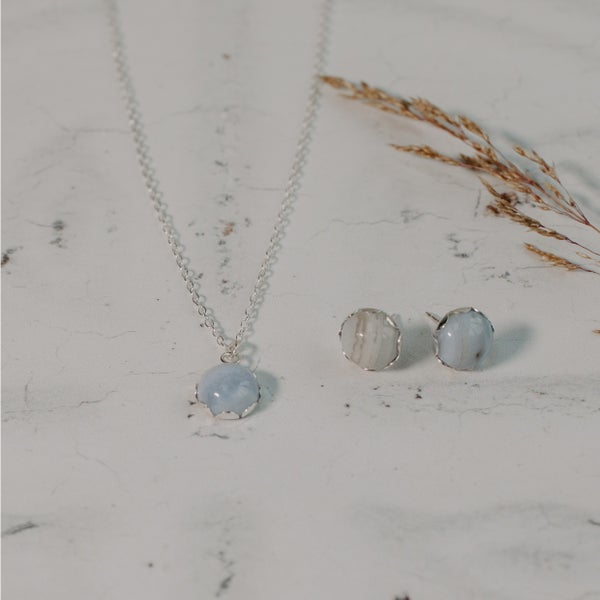 Image of Blue Lace Agate Set