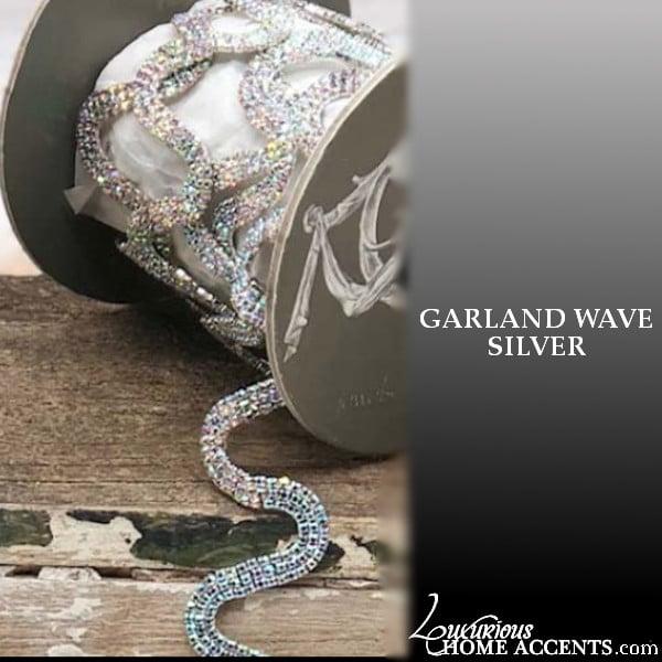 Image of Sparkling Crystal Wave Garland