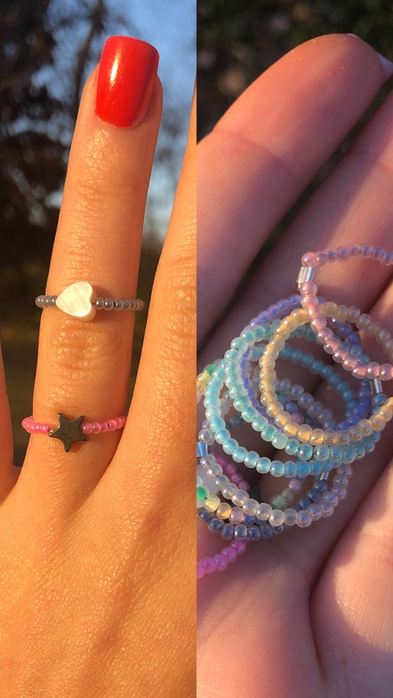 Image of Stackable Glass Bead Ring