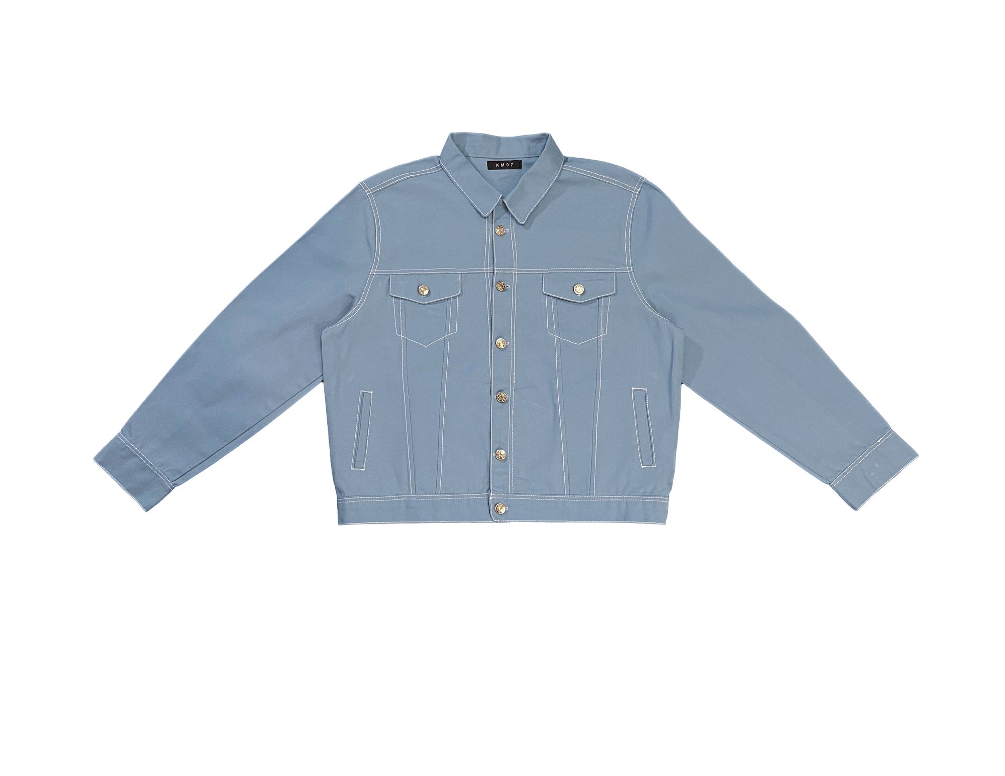 Image of Slim Light Blue Canvas Jacket