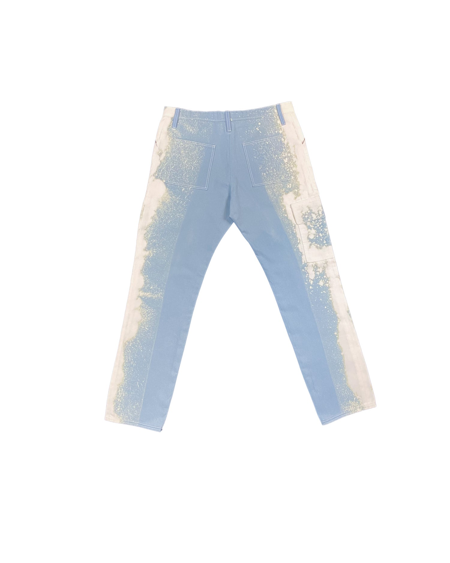Image of Light Blue Bleach Spill Cargo Pants