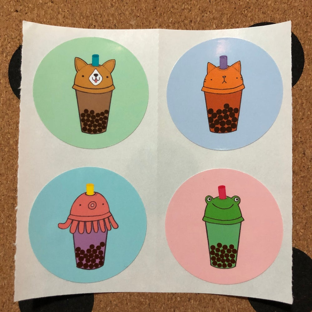 Image of bubble tea friends stickers (small pack)