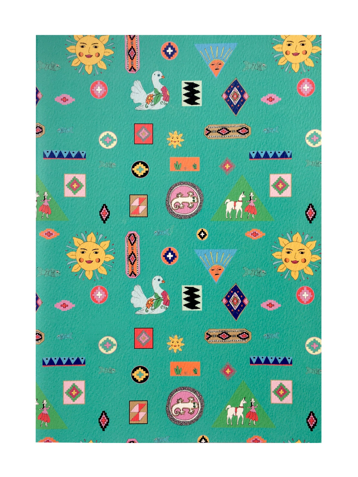 Folk Pattern A4 notebook