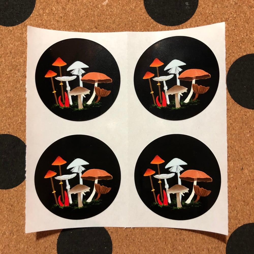 Image of mushroom stickers (small pack)