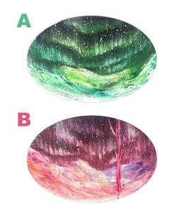 "Image of ""Aurora"" Oval Paintings"