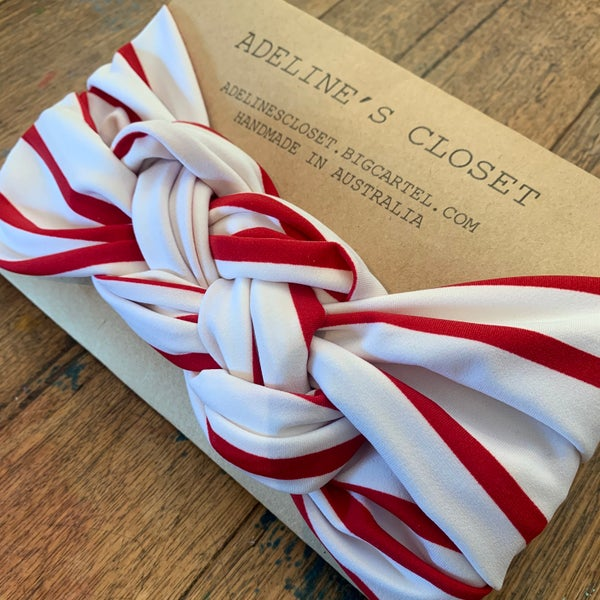 Image of Candy cane headwrap