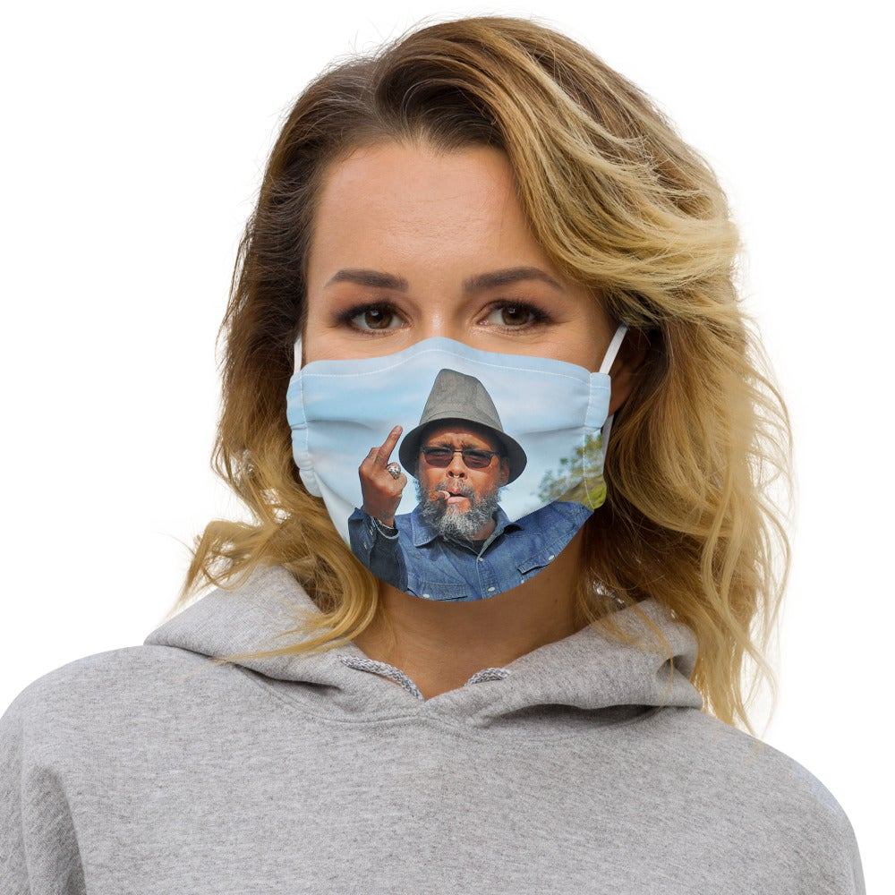 Greetrings from the Rails Premium face mask