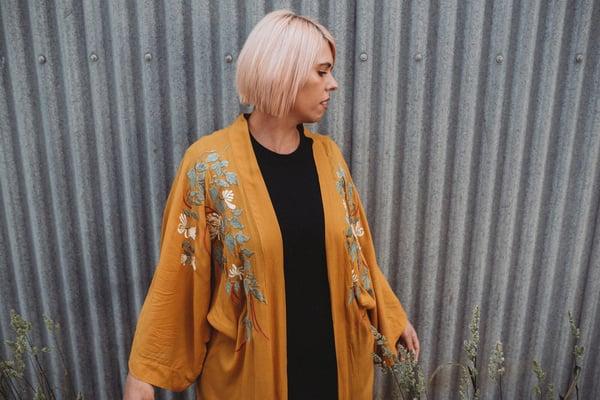 Image of Kyoto Mustard Kimono