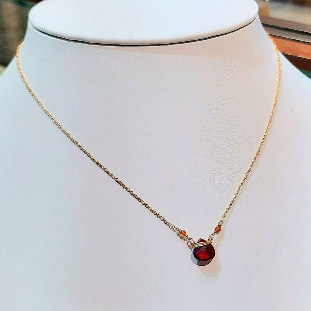 Image of Gold, Garnet and Citrine Necklace