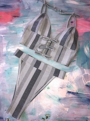 Image of Silver Stripe Set