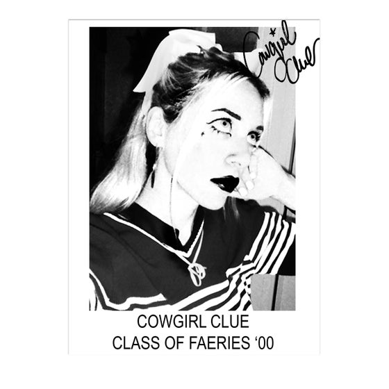 Image of CLASS OF FAERIES '00 COWGIRL CLUE POSTER