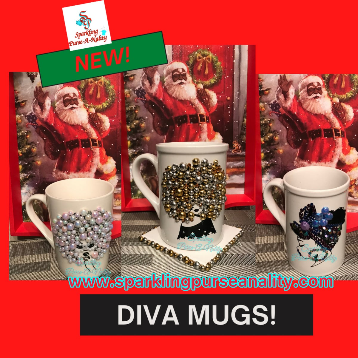 Image of Sparkling Diva Mugs