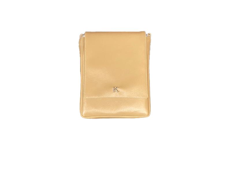 Image of Tan Flap Messenger bag
