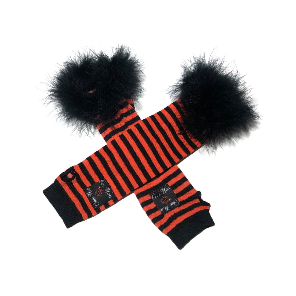 Image of Faerie Academy Arm Fuzzies (Orange/Blk)