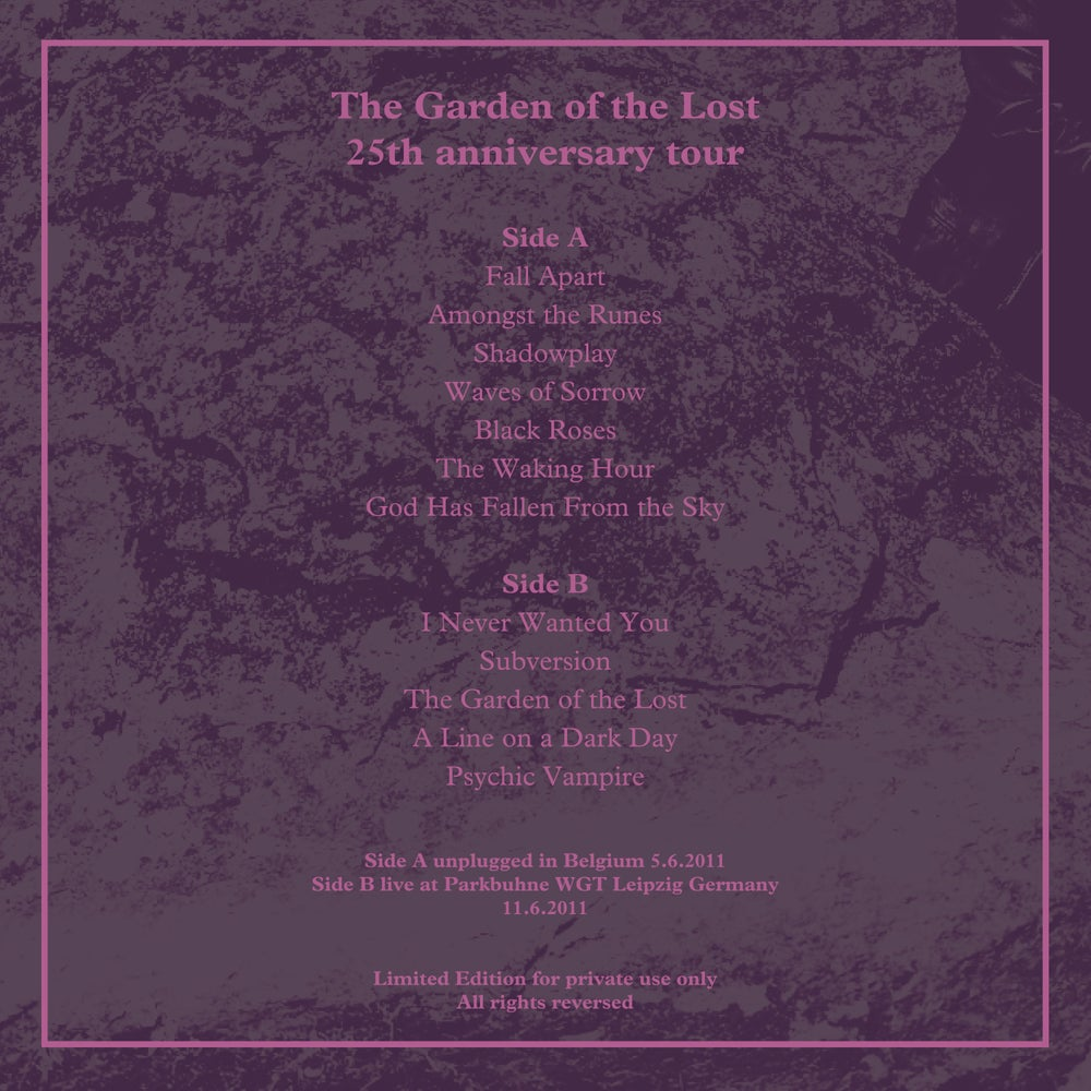 Image of The Garden of the Lost vinyl  LP 7 copies only