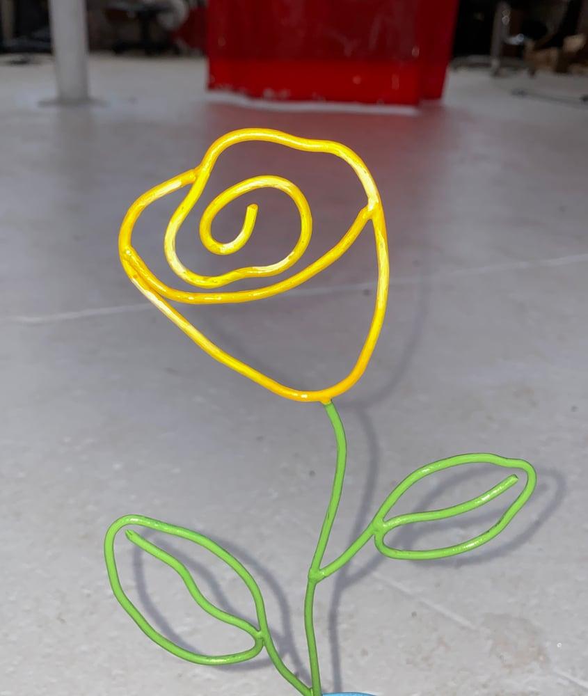 Image of Rose Vase Yellow
