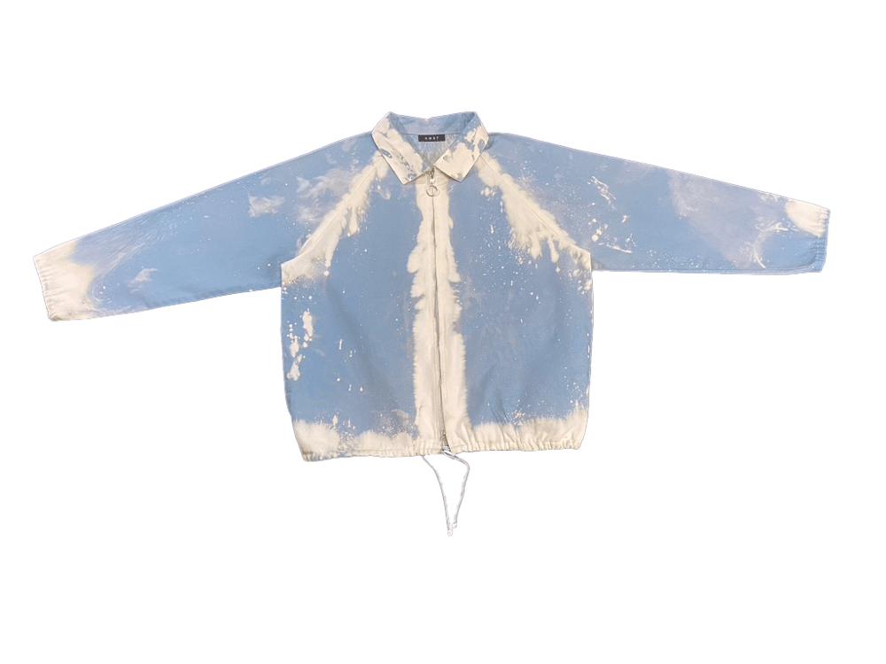 Image of Light  Blue Bleach Spill Canvas Jacket