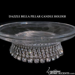 Image of Swarovski Crystal Pillar Candle Holder Dazzle Bella