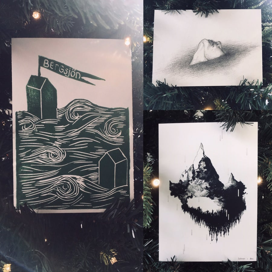 Image of Set of 3 unique artist postcards
