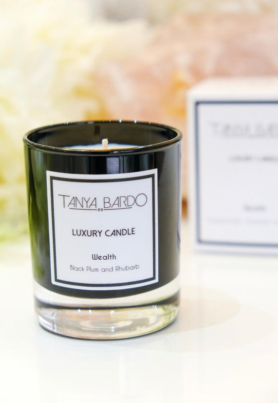 Image of NEW Wealth - Luxury Pot Candle - Black Plum and Rhubarb