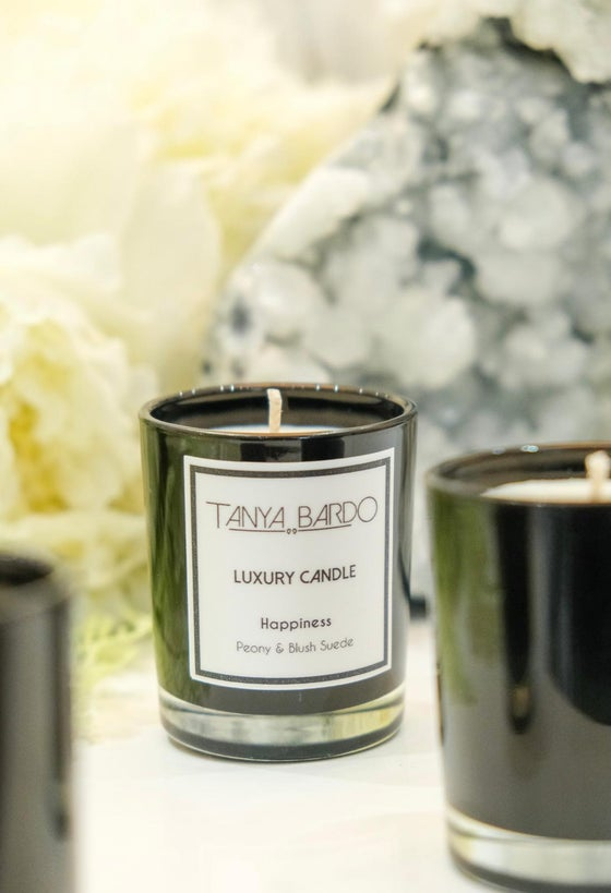Image of NEW Happiness - Luxury Pot Candle - Peony & Blush Suede