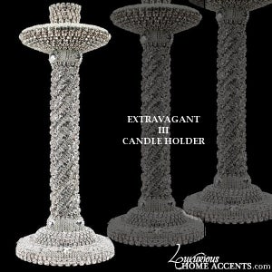 Image of Swarovski Crystal Extravagant Candle Holder III