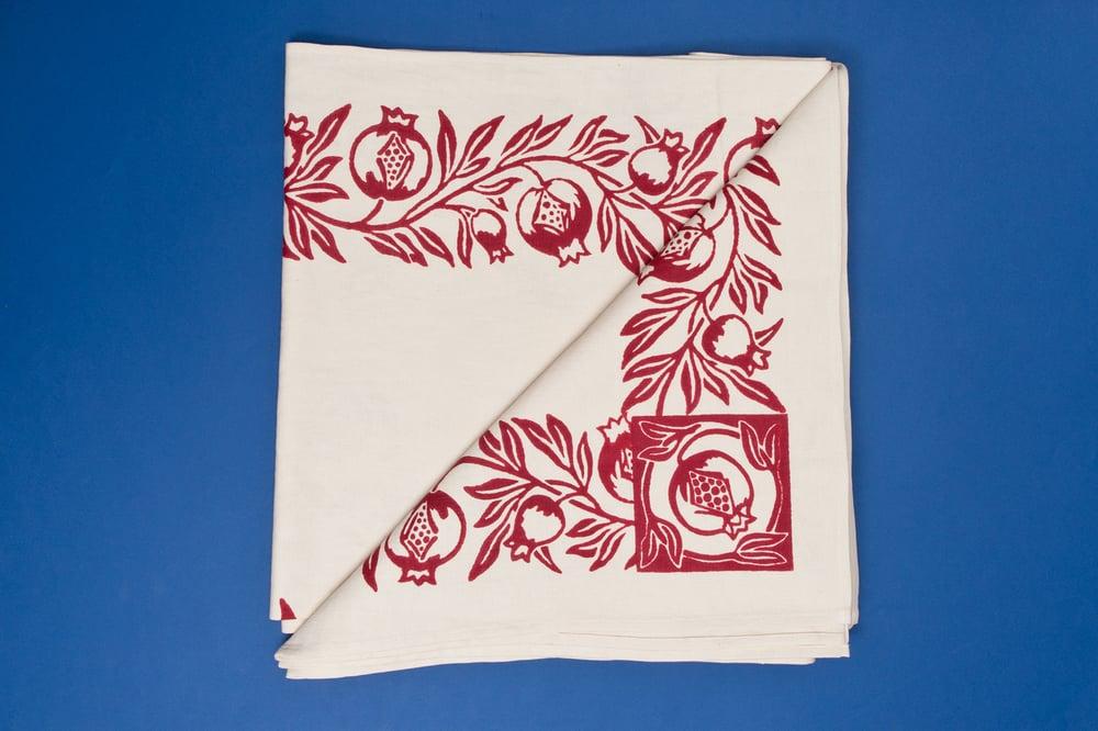 Image of TOVAGLIA ROMAGNOLA STAMPATA A MANO / HAND PRINTED TABLE CLOTH